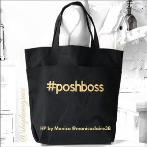 Handbags - 🆕 #PoshBoss Expandable Canvas Tote